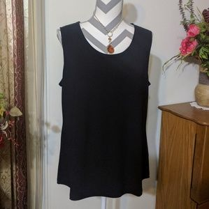 Susan Graver Black Tank Top